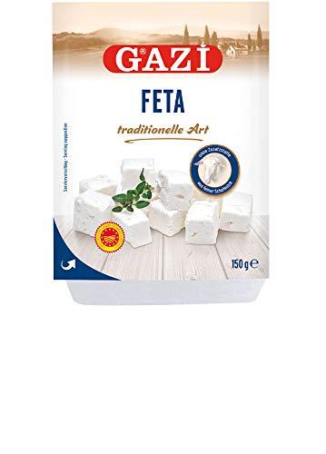 Gazi griechischer Feta - 6x 150g Vakuum - Schafkäse Schafskäse Fetakäse Schaf Käse Sheep Cheese Griechenland 43% Fett i.Tr. mikrobielles Lab vegetarisch glutenfrei Halal, zu Salat Börek