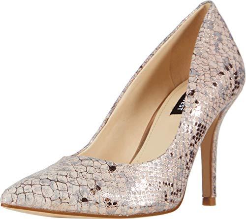 Nine West Zapato de tacón de lino para mujer, Beige (Cipria), 37.5 EU