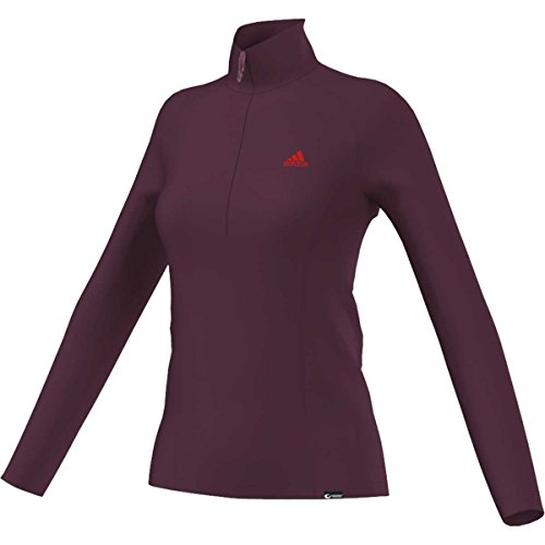 adidas–para mujer Terrex Swift 1/2cremallera camiseta Amazon Roja X-Large