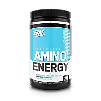 Optimum Nutrition Amino Energy - Pre Workout with Green Tea BCAA Amino Acids Keto Friendly Green Coffee Extract Energy Powder - Cotton Candy 30 Servings