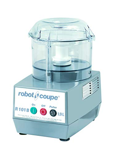 Robot Coupe R101 B CLR Combination Food Processor, 2.5-Liter Bowl, Polycarbonate, Clear, 120v
