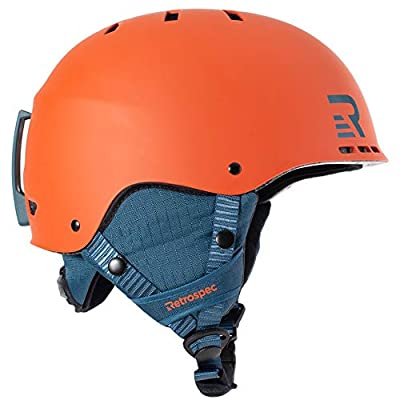 Retrospec Traverse H2 2-in-1 Convertible Ski & Snowboard / Bike & Skate Helmet with 14 vents
