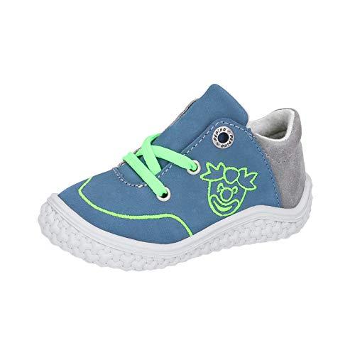 RICOSTA Kinder Low-Top Sneaker FIPS von Pepino, Weite: Mittel (WMS),Barfuß-Schuh, detailreich Freizeit Halbschuh Kinder,Pavone,22 EU / 5.5 Child UK