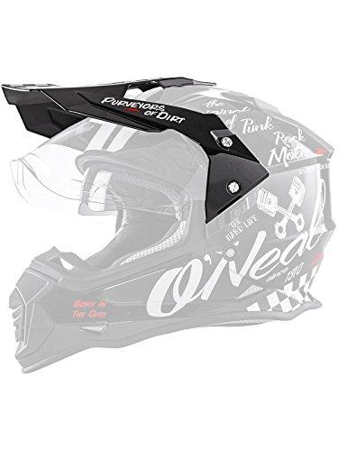 O\'NEAL   Motorrad-Helm-Ersatzteile   Street Adventure Motocross   Ersatzschirm Sierra Torment   Visor Sierra Helmet Torment   Schwarz Weiß   One Size