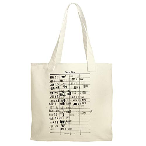 Library Checkout Dates Reusable Shopping Canvas Tote Bag