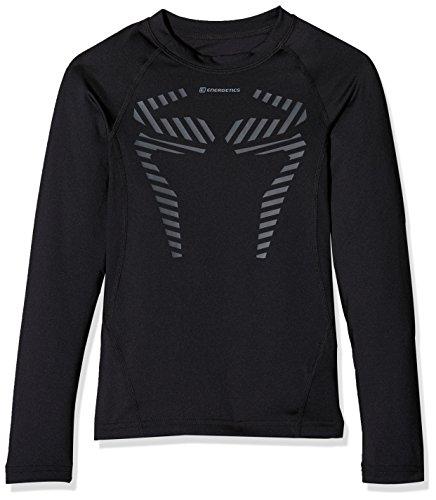 ENERGETICS Jungen Kn-Longsleeve Dilios T-Shirt, Black, 140
