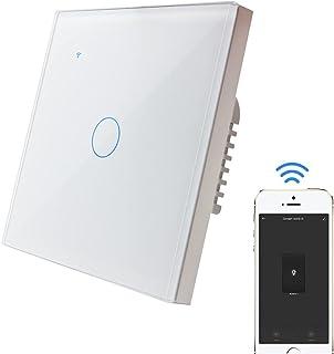 KETOTEK WIFI Lichtschakelaar Touch Smart [Verplicht Neutral], Intelligent Wandschakelaar Alexa Google Home Verenigbaar Sma...