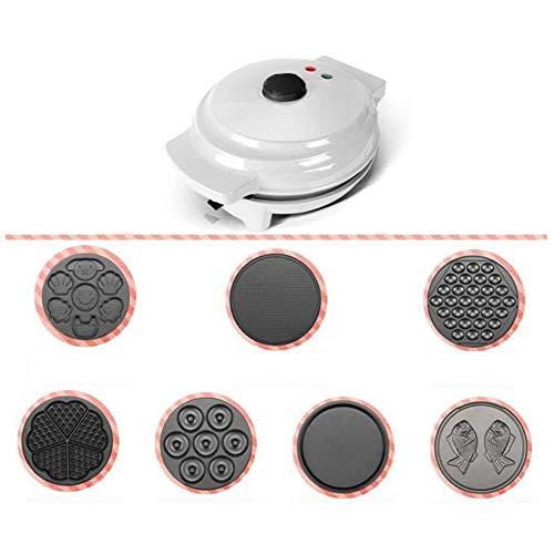 Gofreras electricas, Máquina para donuts Los fabricantes de mini torta Máquina para pizzas Multifunción Casa Placa de cocción diferentes Que tipo de comida-GrisD 26x22.5x12.5cm(10x9x5inch)