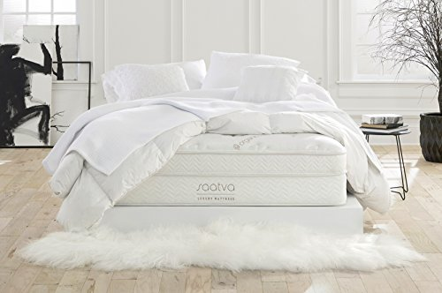 Saatva Luxury Innerspring Mattress, Queen Lux Firm, 120 Night Trial,...