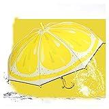 Paraguas De Fruta Encantadora Novedad Artículo Niño Niño Soleado Lluvioso Paraguas Al Aire Libre A Prueba De Viento Fuerte Princesa Princesa Paraguas (Color : Lemon)