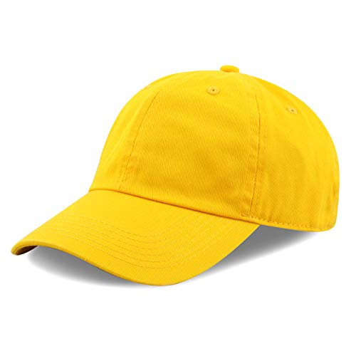 The Hat Depot 300N Washed Cotton Low Profile Baseball Cap (Gold)