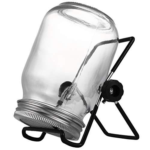 Healifty Kit de Pot de Germination de Graines Germoir Bocaux en Verre avec Couvercles D écran Fabricant de Supports en Métal Faire Pousser du Brocoli Haricots de Luzerne Microgreens