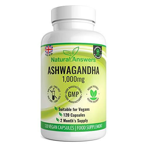 Ashwagandha 1000mg | Premium Natural Supplement | 120 Vegan Capsules | 2 Month Supply | UK Manufactured by Trusted Brand | Ashwagandha Capsules | Ashwaghanda UK | Ashwagandha Powder