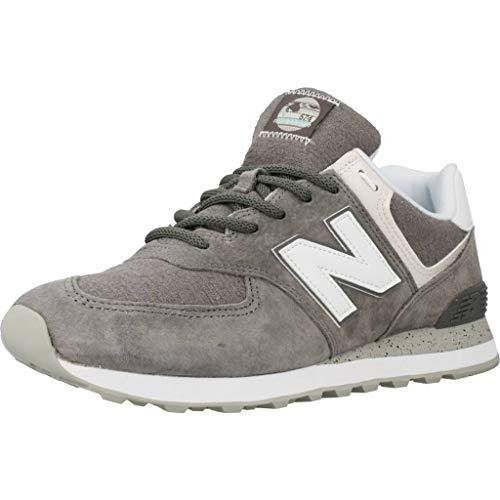 New Balance Herren 574v2 Sneaker, Grau (Grey/White SPW), 45 EU