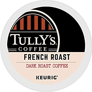 Tully's Coffee, French Roast, Single-Serve Keurig K-Cup Pods, Dark Roast Coffee, 72..