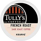 Tully's Coffee, French Roast, Single-Serve Keurig K-Cup Pods, Dark Roast Coffee, 120-Count (5 Boxes of 24 Pods)