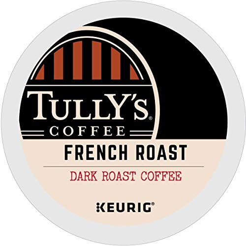 Tully's Coffee, French Roast, Single-Serve Keurig K-Cup Pods, Dark Roast Coffee, 72...