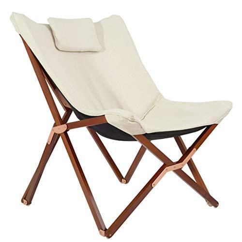 Lw outdoor Klappbarer Campingstuhl Klappstuhl Massivholz Für Die Freizeit, Liegestuhl Balkon Für Das Büro Einzel-Siesta Tragbarer Strandkorb Für Außen (Farbe : C)
