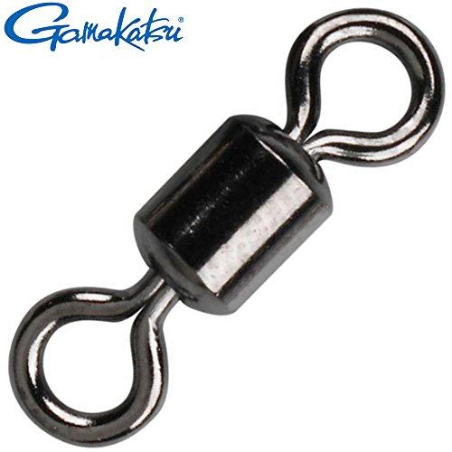 Gamakatsu Hyper Swivel - Angelwirbel zum Spinnfischen & Meeresangeln, Tönnchenwirbel zum Angeln, Wirbel zum Spinnangeln, Größe/Tragkraft/Packungsinhalt:Gr. 2 / 133kg / 6 Stück