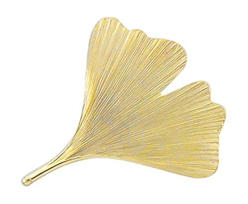 Ginkgo broche de 375 oro 9 hojas carat