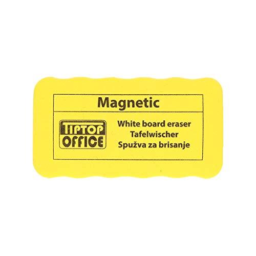 TTO - Borrador de pizarra blanca con núcleo magnético (110 x 57 x 25 mm), color amarillo