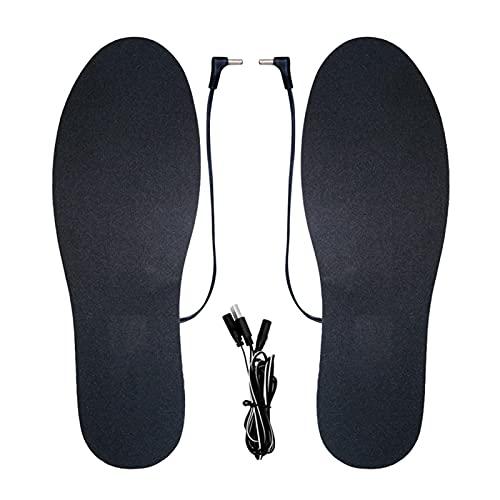 Teetree Elektrisch Beheizte Einlegesohlen,Heated Insoles,USB Wiederaufladbar, Waschbares Beheiztes Schuhpolster,Fußwärmer Sohlen Sohlenwärmer Wiederverwendbar Fusswärmer Einlagen Mit USB