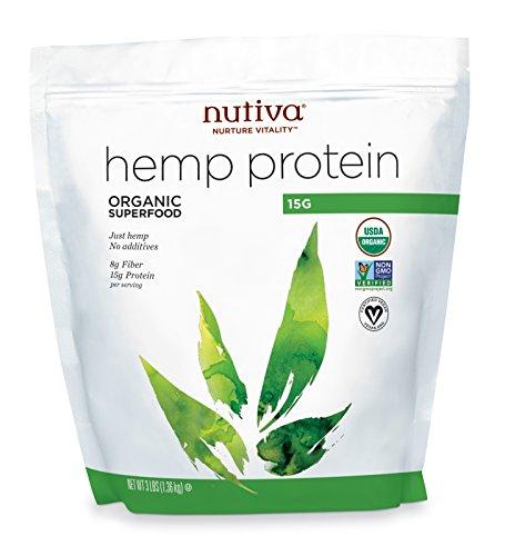 Nutiva Organic Cold-Pressed Hemp Seed Protein Powder, 3 Pound, 48 Ounce