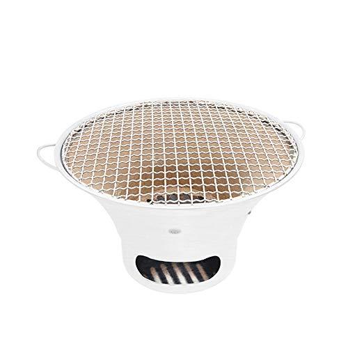 YUFU Parrilla Coreana De Carbón De Leña, Aleación De Aluminio Restaurante Barbacoa Barbacoa Herramienta Parrilla De Carbón De Mesa del Hogar Acampar Al Aire Libre Acampar (Size : L)