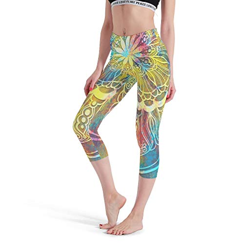 Leggings mágicos para mujer con tema de Bisque, leggings no transparentes, estilo bohemio, romántico, para deporte, correr, color blanco, talla grande