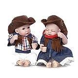 DFJU Mini 11'Lovely Living - Muñecas de Silicona para recién Nacidos, coleccionables, Gemelos
