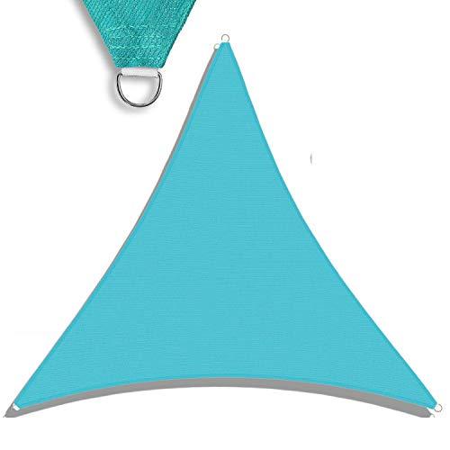 SONNENSCHIRME Depot Sun Shade Sail Gleichseitiges Dreieck wasserdurchlässig Sonnendach beige Benutzerdefinierte Größe erhältlich Commercial Standard