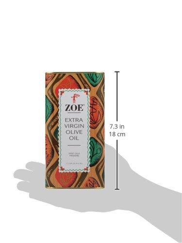 Zoe Extra Virgin Olive Oil, 1 Liter Tin (Pack of 2)