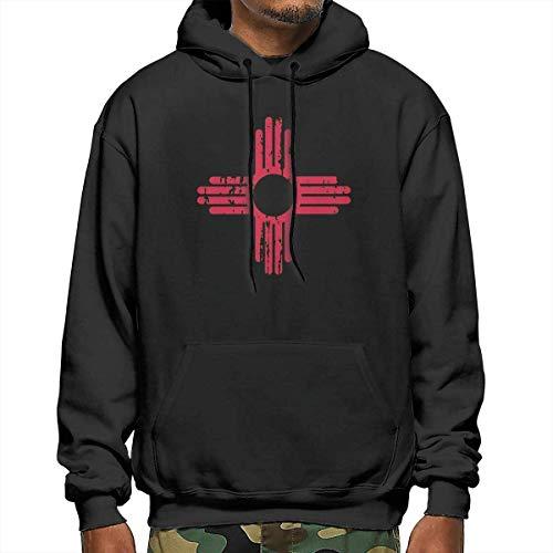 lifangtaoT Hombre Sudaderas con Capucha, New Mexico Sun Symbol Men