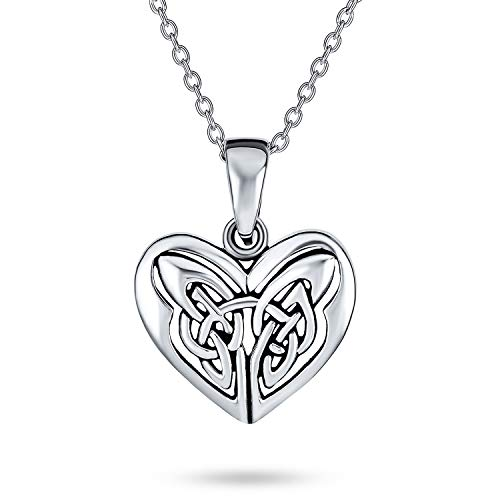 Celtic Triquetra Love Knot Butterfly Heart Pendant Necklace For Women For Teen 925 Sterling Silver