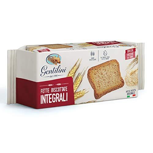 6x Gentilini Fette Biscottate Integrali Vollkorn-Zwieback Brot Backwaren reich an Ballaststoffen 100% Italienisches Produkt 175g