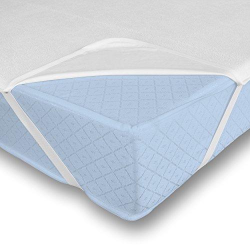 Leonado Vicenti Matratzeschoner Wasserundruchlässig Matratzenauflage Inkontinenz Auflage Schutz, Größe der Matratze:180 x 200 cm