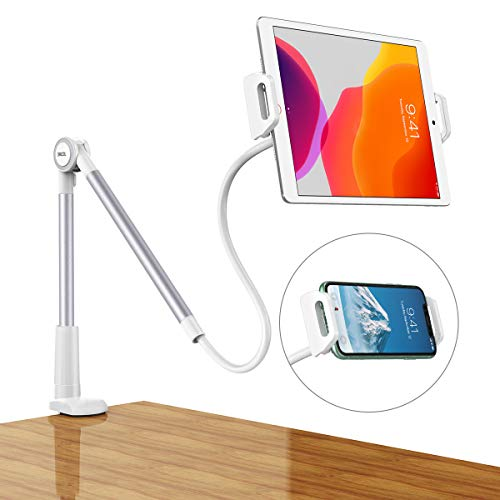 Dracool Soporte Tablet Móvil Multiángulo con Brazo Cuello de Cisne 360° Flexible para iPad Pro 10.5, 9.7, iPad Mini, iPad Air, iPhone, Switch, Samsung Tab, 4.7'-10.5' Otras Tablets - Plata