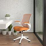 Flash Furniture Silla de Oficina, gomaespuma, Rahmen aus Netzstoff, Weiß, 64.77 x 62.23 x 104.78 cm
