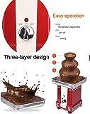 Cyg Schokoladenbrunnen, Komplett Automatisch Schokobrunnen Klein Chocolate Fountain für Kindergeburtstage Und Hochzeiten Schokofondue - 2