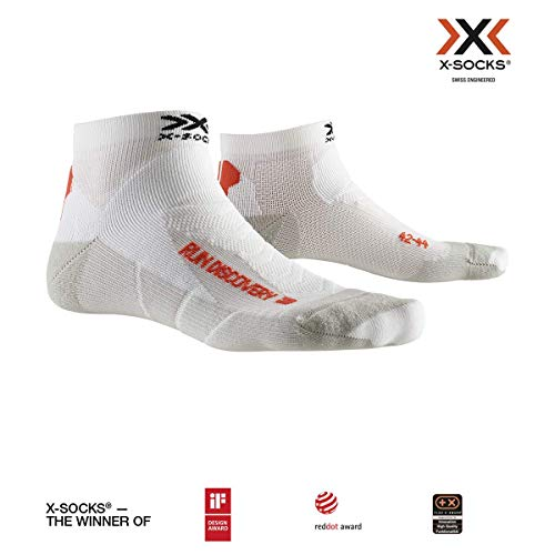 X-Socks Socks Run Discovery, Arctic White/Dolomite Grey, 42-44, XS-RS18S19U-W008-42/44