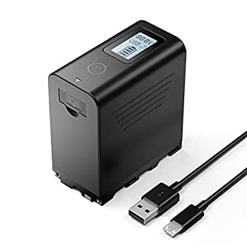 Powerextra Multifunctional Battery Pack High Capacity 10050mAh with USB Output LCD Display for Sony NP-F970 NP-F975 NP-F960 NP-F950 NP-F930 Battery and Video Light -Upgraded