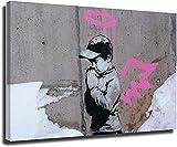 VVBGL Laminas para Cuadros Póster de Artista Banksy Street Graffiti Arte de Pared niño Ángel Cuadros Decoracion Pop Vintage Lienzo Pintura Obra de arte40x60cm x1 Sin Marco