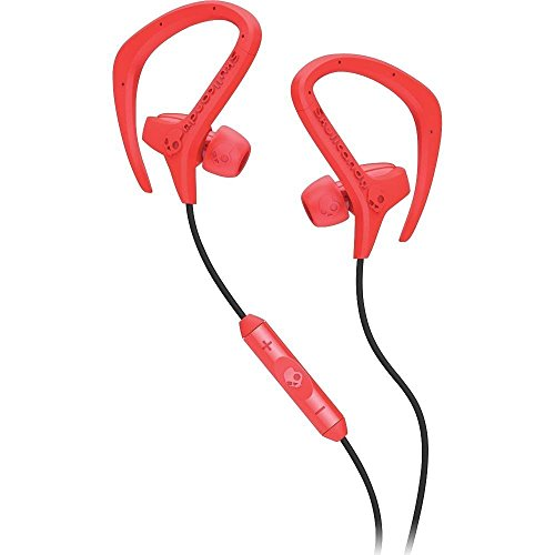 Skullcandy Chops with Mic3 Earphones/Earbuds Lifestyle Headphone - Hot Red/Black