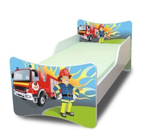 Best For Kids Kinderbett OHNE MATRATZE IN 8 GRÖSSEN UND 32 Designs + GRATIS (90x200, Firemann)