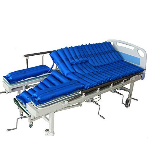 YULO Matratze mit Wechseldruck, Luftbett, Drehpflege, medizinisch, ultra-leise, abnehmbare Anti-Dekubitus-Matratze, blau, 185 x 90 cm