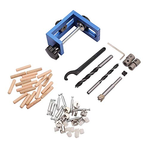 ViewSys Three-in-One Drilling Locator Tool Kit Hole Puncher Hole Locator Hole Opener Woodworking Positioner Drilling Jig Tool 25-60mm