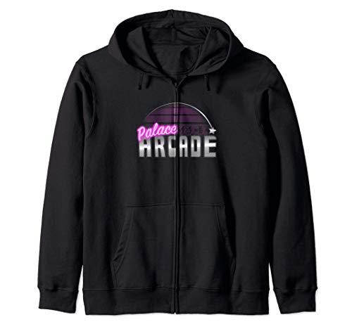 Stranger Things Palace Arcade Purple Neon Logo Sudadera con