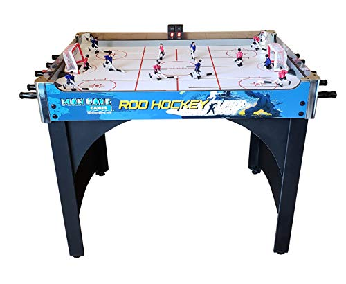"ManCave Games 40"" Deluxe Rod Hockey Game. Head-to-Head Table Hockey Action with Electronic Scoring. Great Size, Durability & Easier for Kids to Play Than Dome Hockey."
