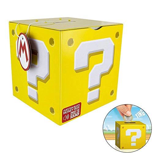 bulrusely Sparschwein,Super Mario Fragezeichen-Box Spardose, Bank Von Sparschwein Lernspielzeug Für Kinder Great