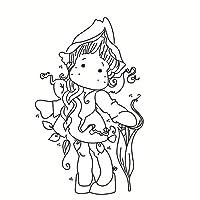 DIYのスクラップブッキング/フォトアルバムのための女の子の透明な明確なシリコーンスタンプ/シール装飾的な明確なスタンプecx